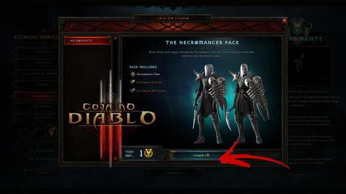 novo personagem no Diablo